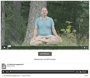 Meditation Onlinekurs mit Remo Rittiner